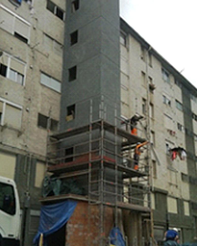 Instalaci n de ascensor en calle zizeruena 28 en bilbao - Herrerias en bilbao ...
