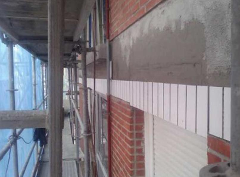 Rehabilitaci n de fachada tradicional en bilbao for Plaqueta ceramica